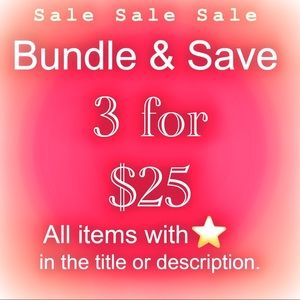 Special buy 3 items wit gold star in title for $25